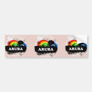 Cute Fruity Aruba Bumper Sticker