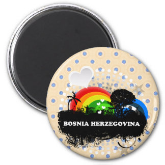 Cute Fruity Bosnia Herzegovina Fridge Magnet