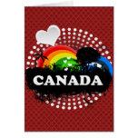 Cute Fruity Canada Greeting Cards