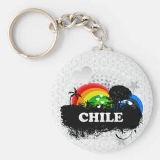 Cute Fruity Chile Basic Round Button Key Ring
