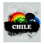 Cute Fruity Chile Posters