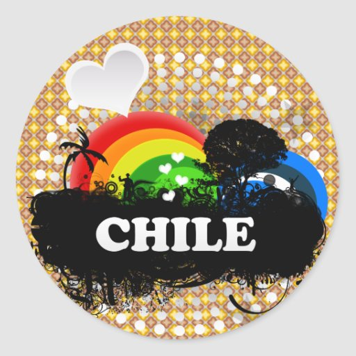 Cute Fruity Chile Round Stickers