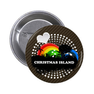 Cute Fruity Christmas Island Pinback Button