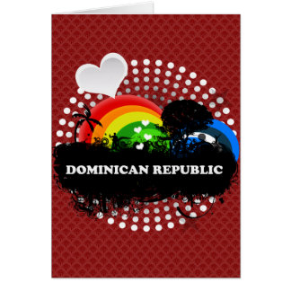 Cute Fruity Dominican Republic Greeting Card
