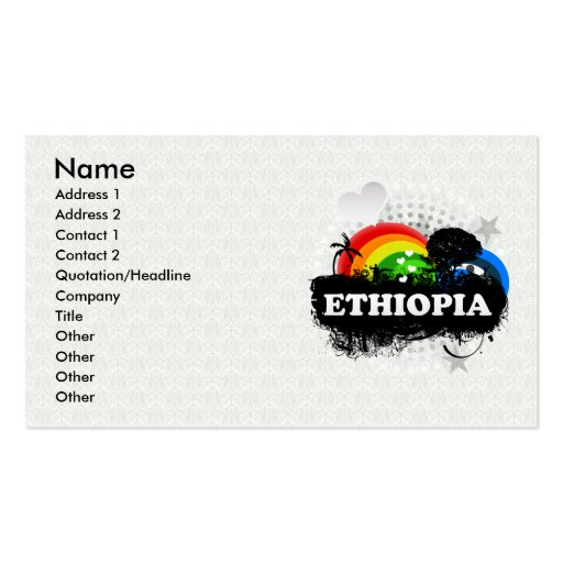 Cute Fruity Ethiopia Business Card Template