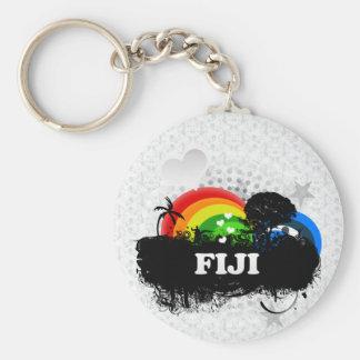 Cute Fruity Fiji Basic Round Button Key Ring