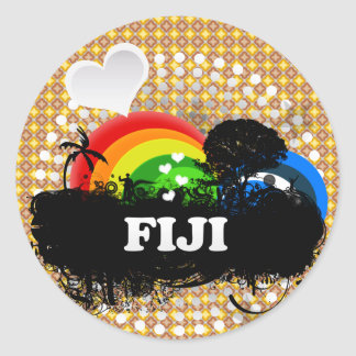 Cute Fruity Fiji Classic Round Sticker