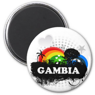 Cute Fruity Gambia 6 Cm Round Magnet