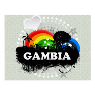Cute Fruity Gambia Postcard