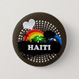 Cute Fruity Haiti 6 Cm Round Badge
