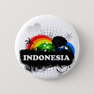 Cute Fruity Indonesia 6 Cm Round Badge