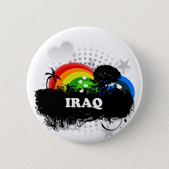 Cute Fruity Iraq 6 Cm Round Badge