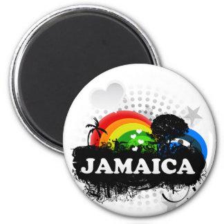 Cute Fruity Jamaica 6 Cm Round Magnet