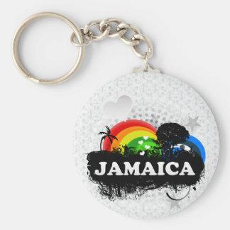 Cute Fruity Jamaica Basic Round Button Key Ring