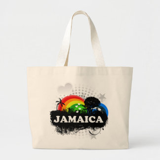 Cute Fruity Jamaica Large Tote Bag