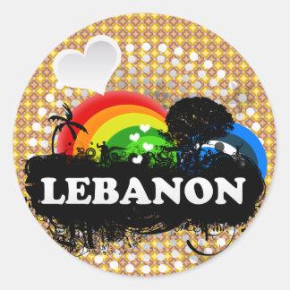 Cute Fruity Lebanon Classic Round Sticker