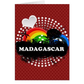 Cute Fruity Madagascar Greeting Card