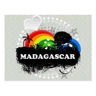 Cute Fruity Madagascar Postcard