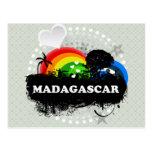 Cute Fruity Madagascar Postcards