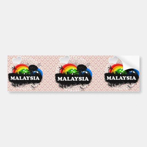 Cute Fruity Malaysia Bumper Sticker