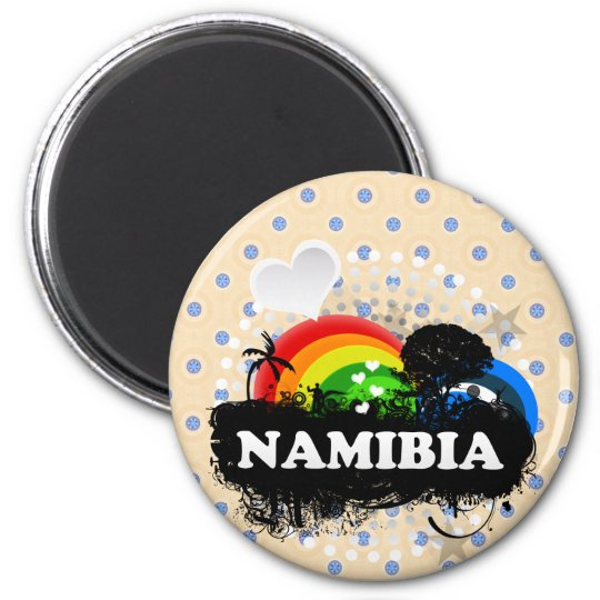 Cute Fruity Namibia 6 Cm Round Magnet