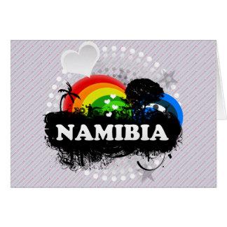 Cute Fruity Namibia Greeting Card