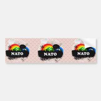 Cute Fruity Nato Bumper Stickers