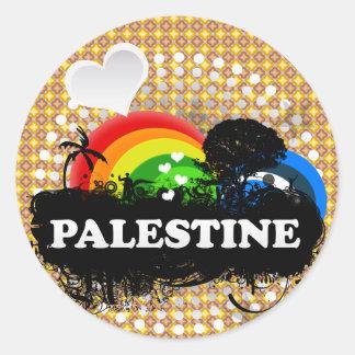 Cute Fruity Palestine Round Sticker