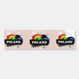 Cute Fruity Poland Bumper Sticker