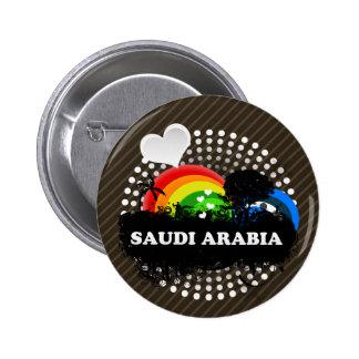 Cute Fruity Saudi Arabia 6 Cm Round Badge