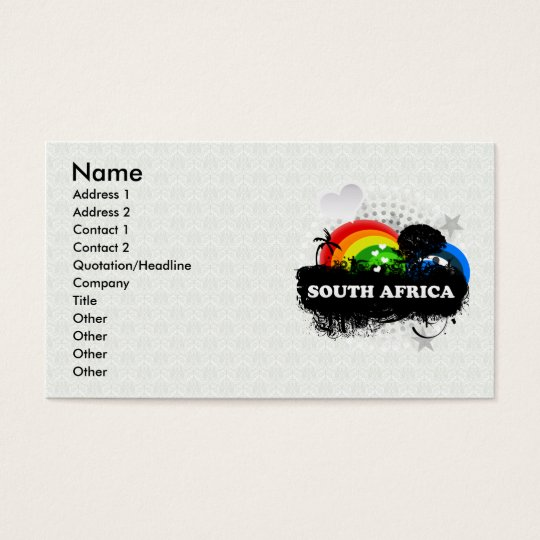 Cute Fruity South Africa Business Card