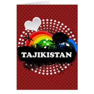 Cute Fruity Tajikistan Greeting Cards