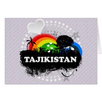 Cute Fruity Tajikistan Card