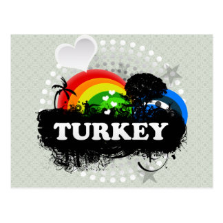 Cute Fruity Turkey Postcard