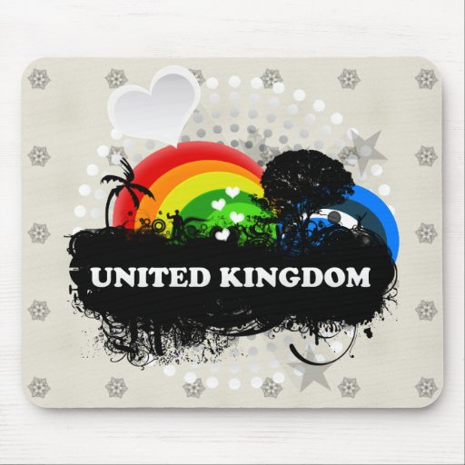 Cute Fruity United Kingdom Mousemats