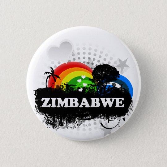 Cute Fruity Zimbabwe 6 Cm Round Badge