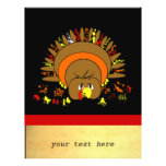 Cute Full Colour Turkey Personalized Flyer
