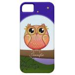 Cute Full Moon Owl & custom Name Case For The iPhone 5