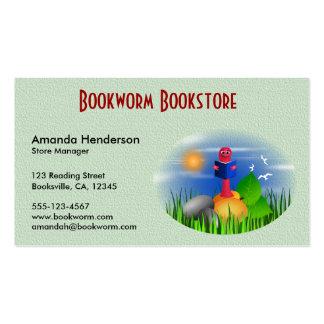Cute Fun Bookworm Book Store Business Cards Business Card Templates