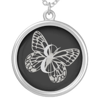 Cute Fun Butterfly  Monogram Necklace