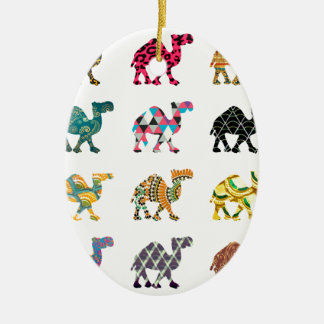 Cute fun camels christmas ornament