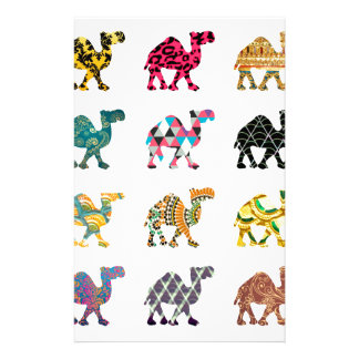 Cute fun camels customised stationery