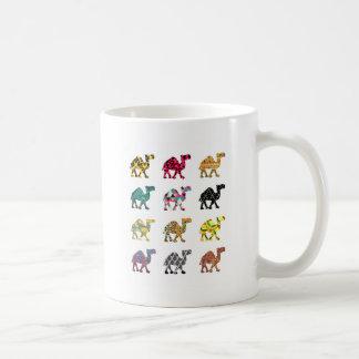 Cute fun camels basic white mug