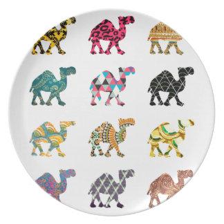 Cute fun camels plates