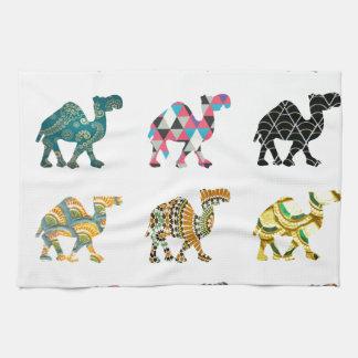 Cute fun camels tea towel