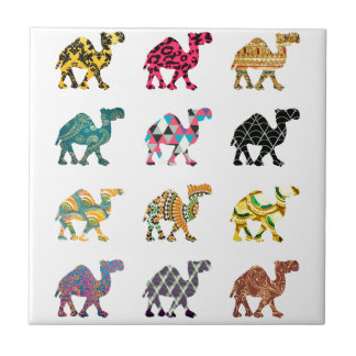 Cute fun camels tile