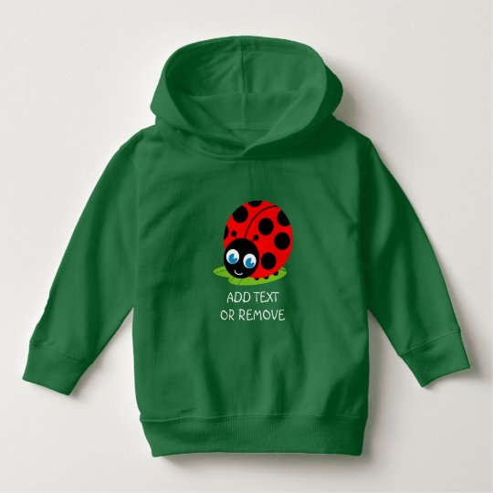 Cute fun cartoon black and red ladybug /