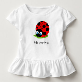 Cute fun cartoon black and red ladybug / ladybird, toddler T-Shirt