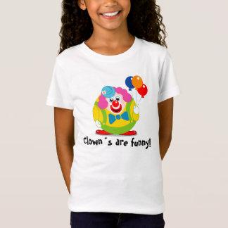 Cute fun cartoon circus clown with a big red nose, T-Shirt