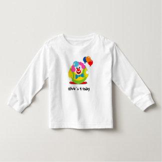 Cute fun cartoon circus clown with a big red nose, toddler T-Shirt